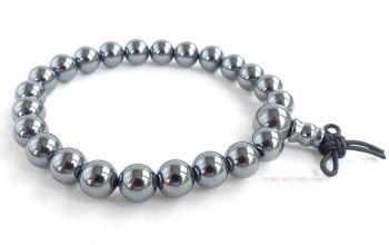 Hematite Bracelet Crystal Power Beads Mala