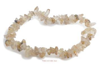 Quartz (Golden Rutilated, Angel Hair) Bracelet Crystal Chips