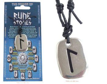 LAGUZ (Lagaz) Rune Pendant & adjustable Necklace for Intuition & Creativity