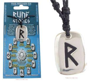 RAIDO Rune Pendant & adjustable Necklace for Safe Journeys