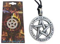 Pentagram Pentacle Runes Pendant Necklace