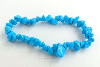 Howlite (Blue) Bracelet Crystal Chips