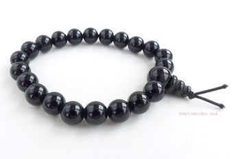 Obsidian (Black) Bracelet Crystal Power Beads Mala