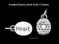 Heart Anahata Chakra Charm Sterling Silver