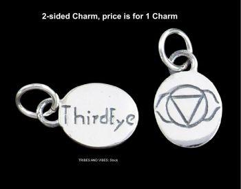 Third Eye Ajna Chakra Charm Sterling Silver