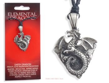 Chinese EARTH DRAGON Pendant Necklace for 1988 1989