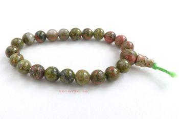 Unakite Bracelet Crystal Power Beads Mala