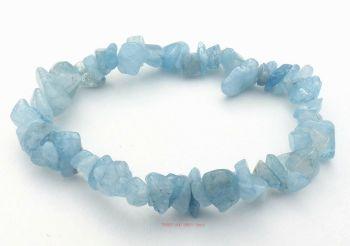 Aquamarine Bracelet Crystal Gemstone Chips