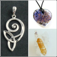 <!--07-->Crystal, Silver &amp; Glass Pendants
