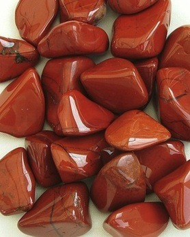 Jasper, Red, Crystal Tumbled Stone 20-25mm