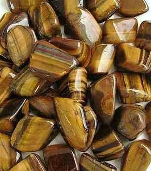 TIGERS EYE large Crystal Tumblestone CHOOSE QUANTITY