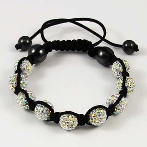 Shamballa bracelet 9 disco ball beads all colours