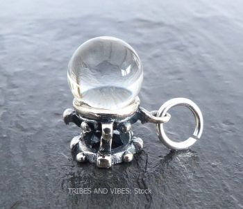 Crystal Ball Charm Sterling Silver
