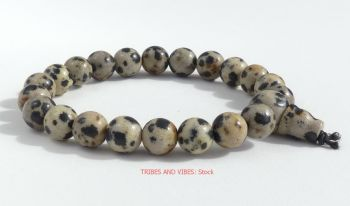 Jasper (Dalmatian) Bracelet Crystal Power Beads Mala