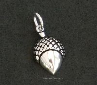 Acorn Charm 18mm Sterling Silver