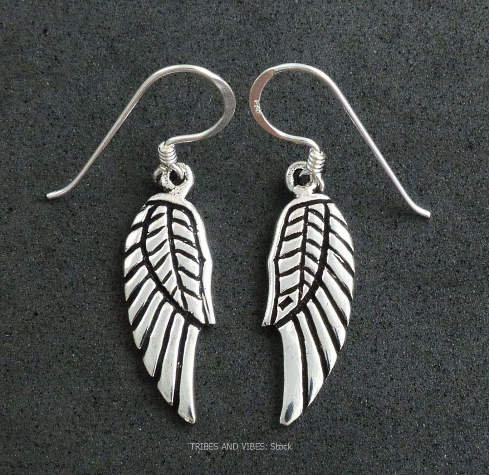 Angel / Fairy Wings Earrings 925 Sterling Silver (stock)