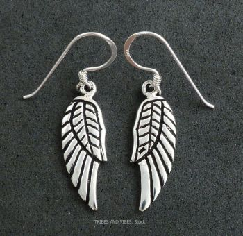 Angel / Fairy Wings Earrings, Sterling Silver