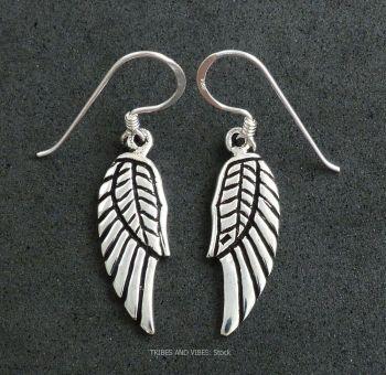 Angel / Fairy Wings Earrings, Sterling Silver