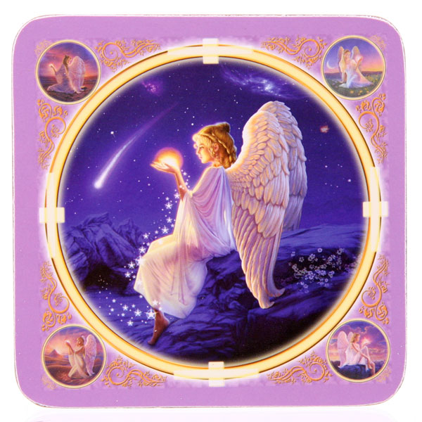 Angel / Fairy Wishing Star Drinks Mat Coasters Lisa Parker