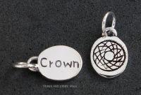 Crown Sahasrara Chakra Charm Sterling Silver