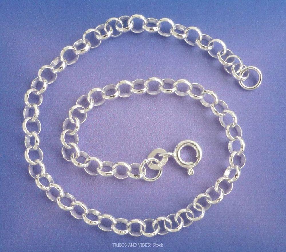 Belcher Bracelet 925 Sterling Silver, 21cm (stock)