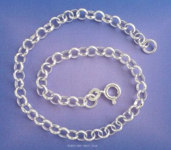 Belcher Bracelet for Charms 925 Sterling Silver, 21cm