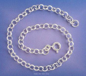 Belcher Bracelet for Charms 925 Sterling Silver, 21cm
