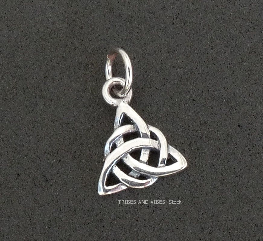 Celtic Triquetra Charm Sterling Silver (stock)