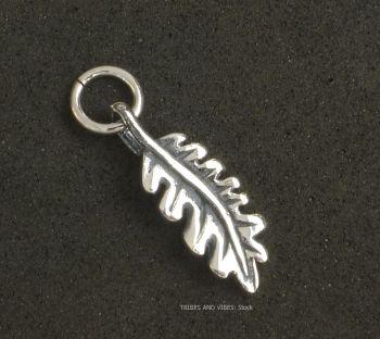 Oak Leaf Charm Sterling Silver