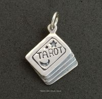 Tarot Cards Charm Sterling Silver 3D