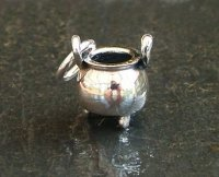 Witch Cauldron Charm Sterling Silver