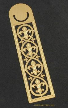 Fleur de Lys metal Bookmark, 125mm