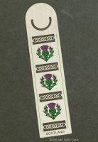 SCOTLAND Thistle metal Bookmark, 125mm