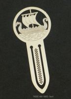 Viking Ship Boat Metal Bookmark, 75mm