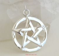Pentacle Pentagram Pendant Sterling Silver, 20mm