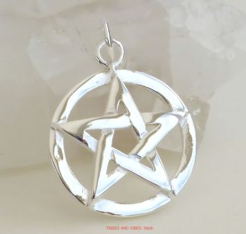Pentacle Pentagram Pendant Sterling Silver, 20mm