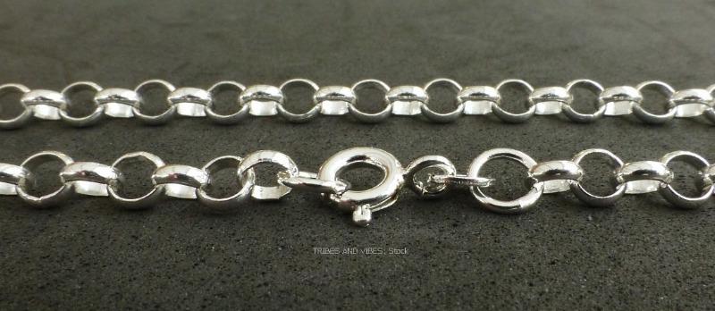 belcher bracelet for charms 925 sterling silver