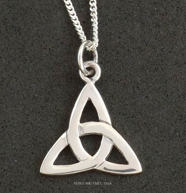 triquetra celtic trinity knot necklace sterling silver