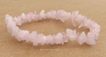 Rose Quartz Bracelet Crystal Chips