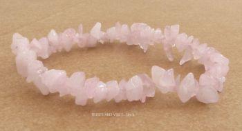 Rose Quartz Crystal Chips Bracelet