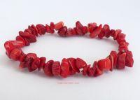 Red Coral Bracelet Chips