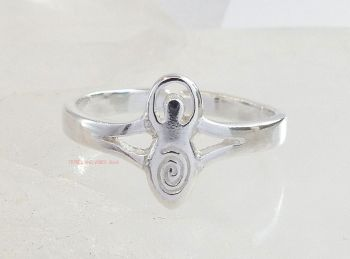 Goddess Toe Ring or Midi Sterling Silver