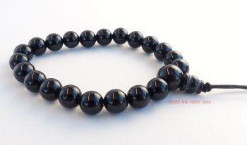 Black Onyx Bracelet Crystal Power Beads (Mala)