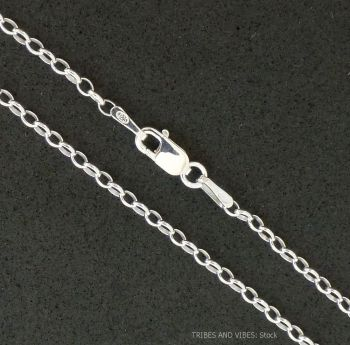 Sterling Silver Belcher Chain Necklace 22