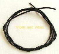 "Black waxed cotton cord 89cm (35"") 1.5mm wide"