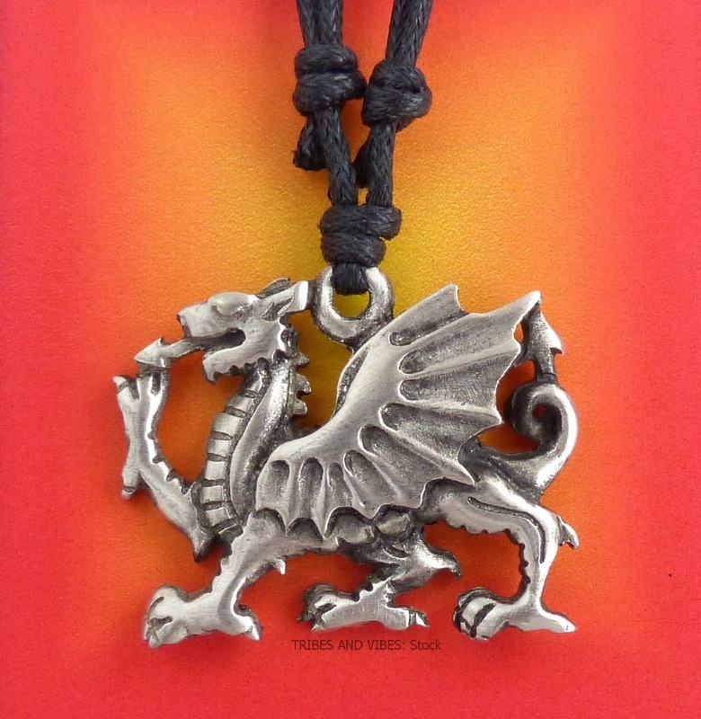Gifts for St David's Day Welsh Dragon Pendant Necklace