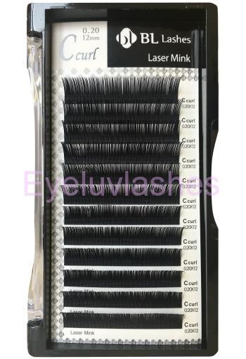 e894c747b67 C Curl 0.18 Thickness / 11mm Length Blink (BL) Laser Mink Individual Eyelash  Tray