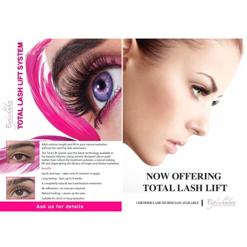 Lash Lift Advertising Leaflets (Double sided) - Pack of 50