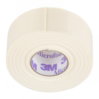 3M Microfoam Tape - 1 Roll - Perfect for Under Eyes (2.5 cm Width x 5 Metres Length)