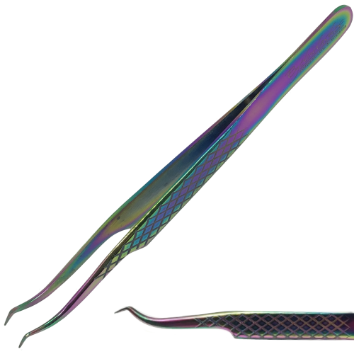 Diamond Grip Hooked Tweezers for Classic Lashes (Pick-up)